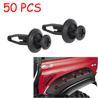 50X Plastic Rivet Fastener Screw Bolt Clips body For Yamaha Rhino 450 660 700