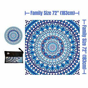 Microfiber Beach Towel Oversized - 72x72 (183cmx183cm) - BLUE BEAUTY
