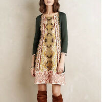 Knitted & Knotted Anthropologie Dress Size S Petite Seraphine Lanka Tapestry
