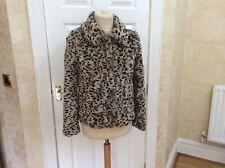 Almacén cálido abrigo chaqueta de piel sintética UK 10 Pequeño S apenas usado (W)