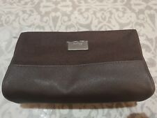 Hugo Boss Parfums Toiletries Wash Bag Mens Shave Travel Pouch Brown ~ free post