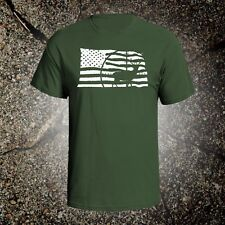 American Flag Deer hunting vintage style graphic t shirt tee winchester mossberg