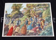 U880 Affiche scolaire LOUIS XIV misères PROTESTANT paysans souffrances Rossignol