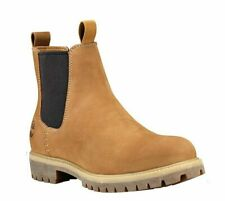 Mens TIMBERLAND Slip On Classic Chelsea Boots Honey Leather size UK 11.5 46