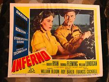 Inferno 1953 20th Century Fox lobby card Rhonda Fleming William Lundigan