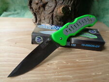 F19200GNGY Couteau EDC Frost Cutlery Lame Acier Inox Manche FRN Vert/Gris