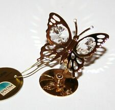 BUTTERFLY Ornament with Spectra Swarovski Crystal Elements 24K Gold NEW