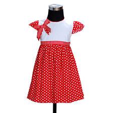 NUEVO niña Lunares Algodón Verano Vestido de fiesta de 12 meses a 3 años