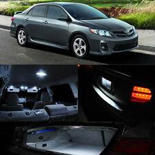 For 12-14 Toyota Corolla Xenon White Interior LED Light Map Dome Trunk Plate