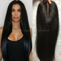 Silk Base Full Lace Wigs Straight Pre Plucked Brazilian Virgin Human Hair Wig @C