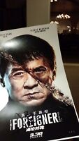 JACKIE CHAN SIGNED THE FOREIGNER ASIAN CHINA MOVIE POSTER 12x18 AUTO PHOTO PROOF