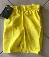 """Nike Men's Challenger 5"""" Brief-Lined Running Shorts Yellow  Dri-Fit AJ7685 731 S"""