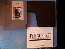 JACK NICKLAUS NINTENDO NES 1990 TESTED w/MANUAL & SLEEVE ACTUAL PICTURE GOOD