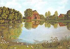 BG11216 hof am weiher farm at fishpond hanna muller painting   germany
