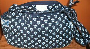 """Vera Bradley Nantucket Navy Maggie Hand Bag  5"""" x 10"""" x 3.5"""" NWOT"""