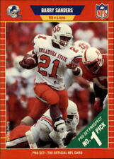 1989 Pro Set #494 Barry Sanders RC Rookie Lions