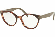 Authentic PRADA PR01TV UE01O1 51 Eyeglasses Spotted Brown Pink *NEW* 51mm