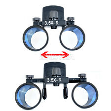 UK 3.5X Dental Clip Type Surgical Medical Binocular Loupes Magnifier Clip DY-109