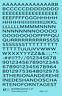 K4 O Decals Black 1/4 Inch Modern Gothic Letter Number Alphabet Set