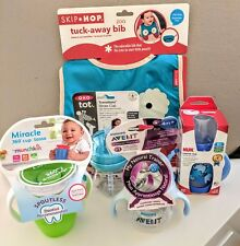 Sippy Cups Variety Set - Munchkin, OXO tot, NUK, and Avent. FREE Skip-Hop Bib!