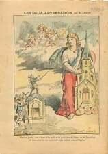 Caricature Anti Maçonnique  FM Synagogue de Satan Néron Eglise 1906 ILLUSTRATION