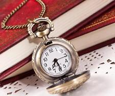 Hot Fashion Vintage Retro Quartz Pocket Watch Pendant Chain Necklace