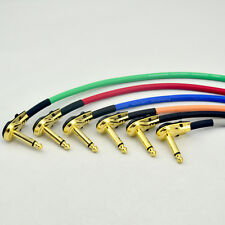 6X 30CM Right Angle 1/4 Mono Guitar Effect Pedal Board Cable Patch Cord 6 Colour