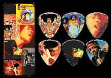 6 (six) Jimi Hendrix Album covers Frontline Guitar Picks HEavy gaugeTIN JHPT08H