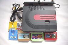 Sharp Twin Famicom Console Red AN-500B (New Belt)  + 4 Games JP SELLER!