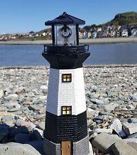 Solar Power Lighthouse Rotating LED Garden Ornament