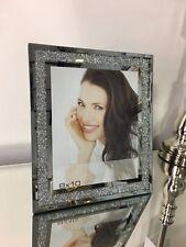 "8"" x 10"" Sparkle Crushed Diamond Glitz Crystal Mirrored Glass Photo Slim Frame"