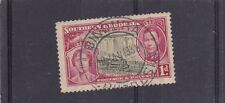 "SOUTHERN RHODESIA ""BINDURA"" POSTMARK ON 1d 1937 CORONATION NICE USED"
