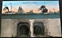 New York, NY~Pennsylvania R.R. under the Hudson River~New York City (1907-1914)