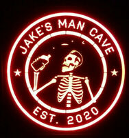 Drunk Camp  LED Sign Personalized, Home bar pub Sign, Lighted Sign, man cave