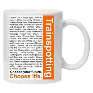Trainspotting Choose Life Quote Classic Movie Personalised Printed Coffee Mug