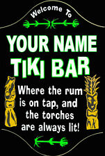 Tiki bar Sign Man Cave  Home Theater