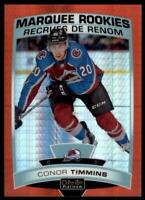 2019-20 OPC Platinum Red Prism Marquee Rookies #169 Conor Timmins RC /199