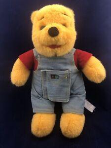 Disney Mattel Winnie the Pooh Bear Overalls Hidden Storybook Plush Stuffed Toy