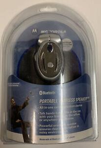 2004 Motorola Portable Bluetooth Car Speakerphone 98595H New In Package!