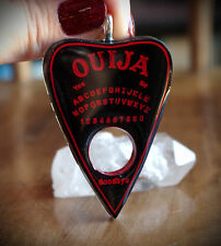 Black w/ Red Resin Planchette Ouija Necklace Emo/Pastel/Occult/Goth/Alt/Unisex