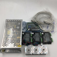 Stepper Motor Kit Nema17 L34mm 3Axis Kit+Power Supply+5Axis Breakout Board CNC