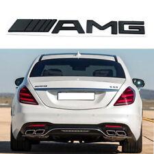 Black Car Metal AMG letter Emblem Badge Sticker For Benz Car Body Rear Trunk Lid