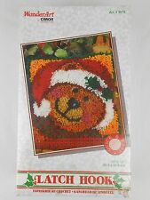 "Caron WonderArt ""Jingle Bear"" Latch Hook Kit # 4675 12x12"" NEW"