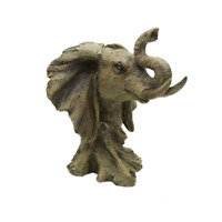 Large Elephant bust Statue Art Decoration Table Top Decoration Indoor Outdoor
