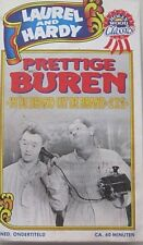LAUREL AND HARDY - PRETTIGE BUREN - VHS - ZWART/WIT