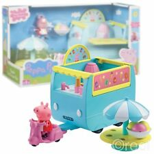 New Peppa Pig's Ice Cream Van Playset w/ Scooter & Figure Official