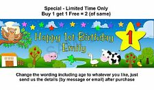 Personalised Child Baby Birthday Party Banner Sign Wish Owl, Twinkle Little Star