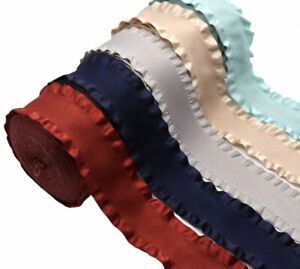 High Quality Ruffle Ribbon 38mm Double Sided 1M
