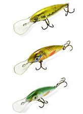 Lot of 3 Ugly Duckling Fishing Lures, Balsa Wood, finesse fishing ultra light