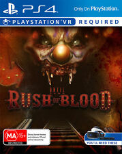 Until Dawn Rush of Blood PlayStation VR ** Ps4